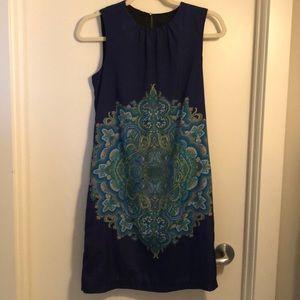 Zara blue dress /peacock coloured small
